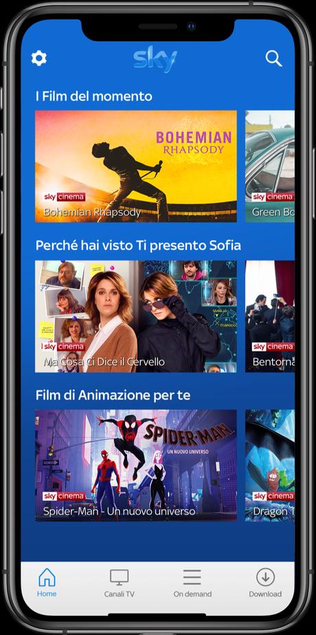 Sky Go rinnova la sua app con utilizzo più semplice e personalizzato