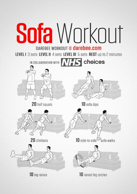 Sofa workout, l'home fitness per i più pigri