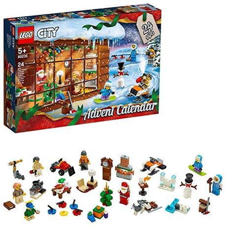 LEGO- City Town Calendario dell'Avvento Set di Costruzione, Multicolore, 60235