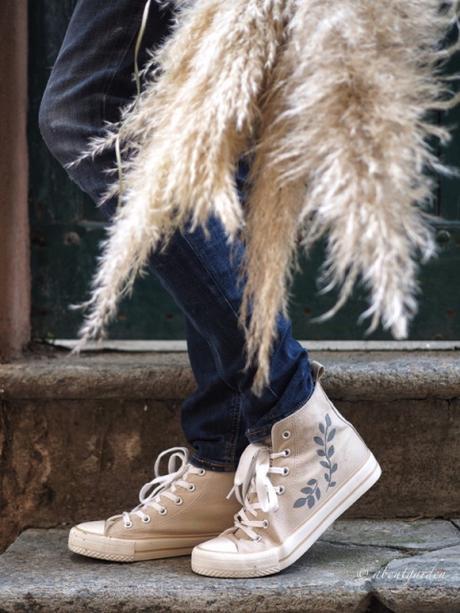 dipingere le scarpe di tela con stencil