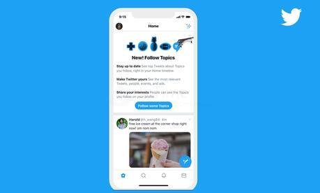 Twitter mette gli interessi in risalto con 'Twitter Topics'