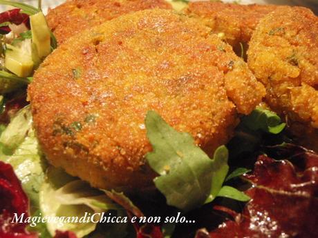 Burgher di zucca con granella (gritz) di saraceno