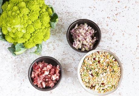 La zuppa arcobaleno incontra il broccolo romanesco