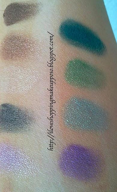 Ombretti mono Essence - swatches