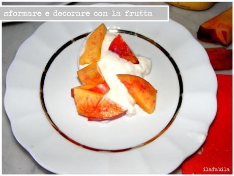 Crema di ricotta con frutta e caramello