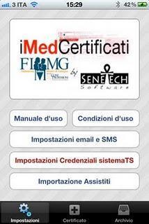 Invio telematico dei certificati di malattia INPS per gli FIMMG con l'app iMedCertificati FIMMG.