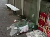 Aversa città accoglie carico rifiuti esce dalla metro (07.07.11)