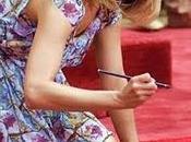 Jennifer Aniston fermato momento impronte cemento