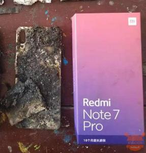 redmi note 7 pro in fiamme