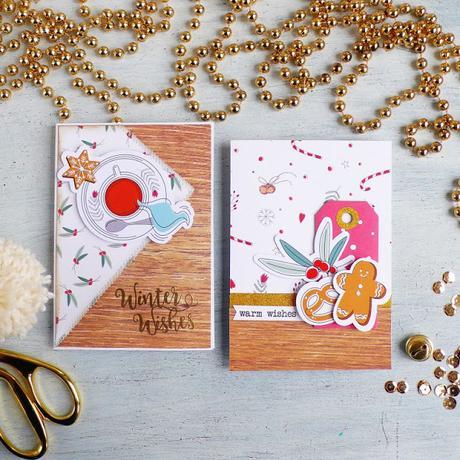 Natale fatto a mano | Card di Buon Natale con i materiali scrap di Flavir Design