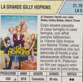 LA GRANDE GILLY HOPKINS, di Stephen Herek, con Julia Stiles, Kathy Bates, Glenn Close, 2016