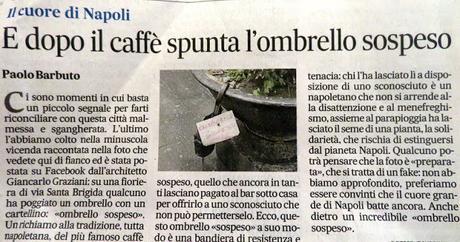 Napoli: il caffè, l'ombrello, le parole...tutto sospeso!!!