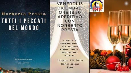 Norberto Presta presenta a Este (PD) il suo romanzo carioca TUTTI I PECCATI DEL MONDO