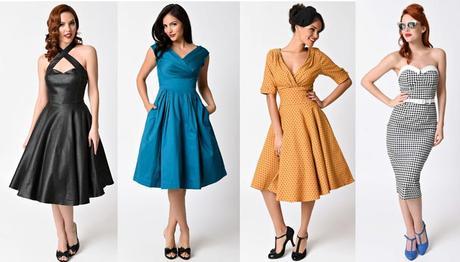 Vestiti da pin-up anni '50