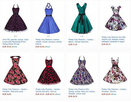 Clicca sull'immagine per vedere gli abiti da pin up su Amazon