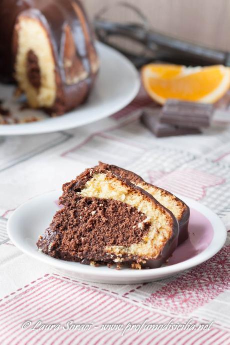 il pan d'arancio variegato al cioccolato