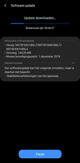 Android 10 in rilascio per Samsung Galaxy Note 10 e Note 10+