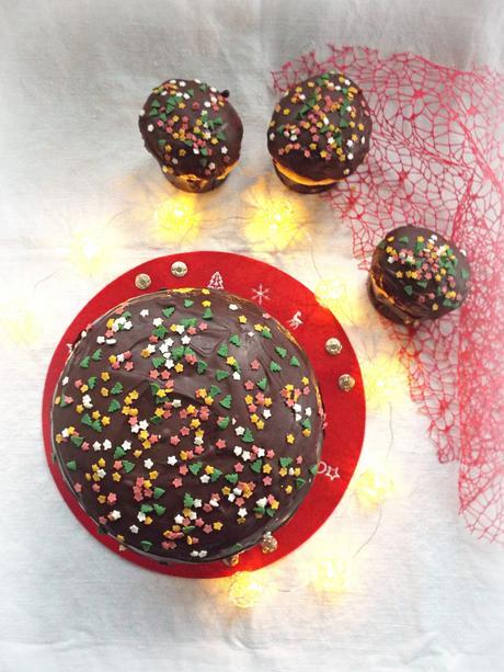 Panettone alle gocce di cioccolato a lievitazione mista