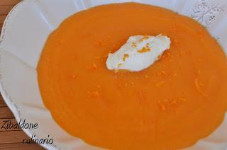Crema di carote all'arancia