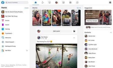 nuova versione desktop facebook 2020 franrusso.it