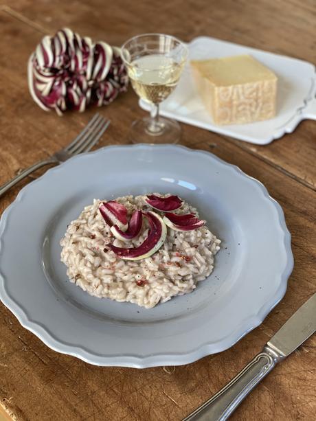 Ricetta del Risotto al radicchio con formaggio Piave Vecchio Selezione Oro DOP