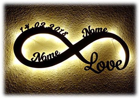 Luce  Amore infinito, Idea Regalo con Nome per lei e lui