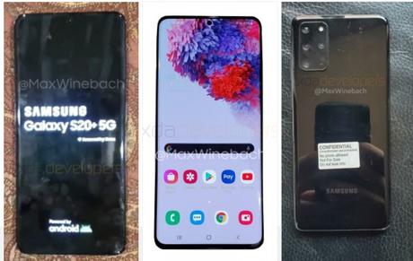 Samsung: prime immagini live del modello Galaxy S20