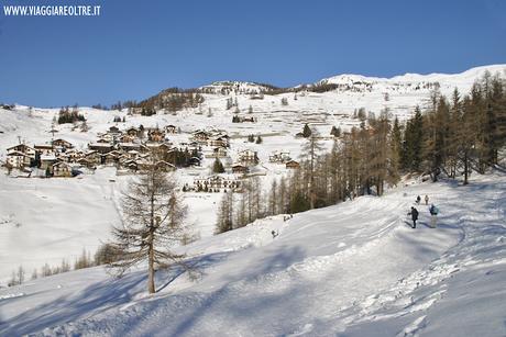 Raggiungere Chamois a piedi, una ciaspolata in Valle d'Aosta