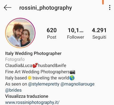 10 Profili Instagram di Fotografi di Matrimonio da seguire nel 2020!