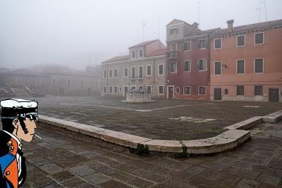 Il doppio campo di San Trovaso, dove Corto Maltese si intratteneva coi gatti veneziani