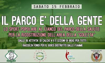 Palermo Calcio Popolare Palestra popolare insieme l'iniziativa: Parco della gente