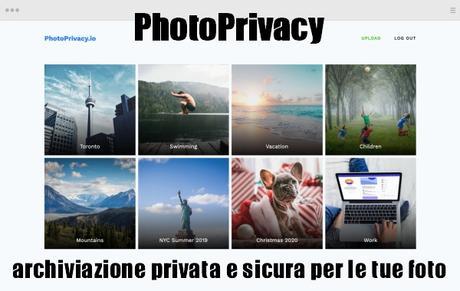 PhotoPrivacy | archiviazione privata e sicura per le tue foto