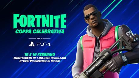 Fortnite Coppa Celebrativa: al via il 15 e 16 febbraio solo per PS4 e con un milione di dollari di premi!