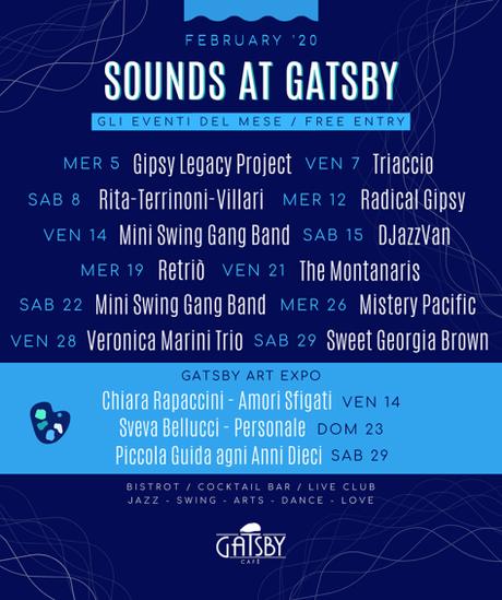 """19 febbraio 2020 """"Gipsy Gatsby: Retriò"""" al Gatsby Cafè"""