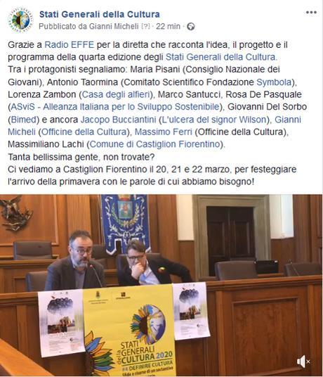 Conferenza Stampa Stati Generali della Cultura