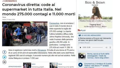 #Covid19: più di 4000 morti, code ai supermarket, sospeso il Patto di stabilità