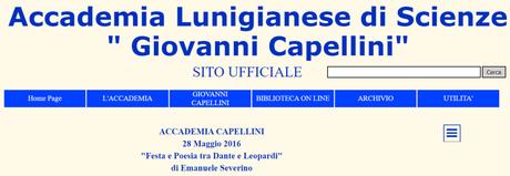 """Emanuele Severino, Conferenza sul tema """"Festa e Poesia: tra Dante e Leopardi"""", alla ACCADEMIA CAPELLINI 28 Maggio 2016, audio di 2 ore"""