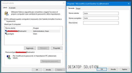 [Guida] Come modificare il nome utente dell'account (Username) di [Windows 10]