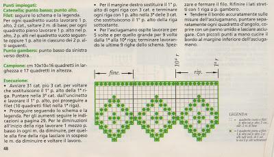 Schemi per il filet: Bordo a filet floreale_2