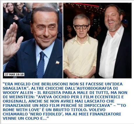 Diritti civili, l'autobiografia di Woody Allen e il senso della vergogna (mancante) nelle marchette dei media analogici italiani…