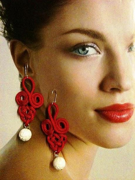 Red passion earring