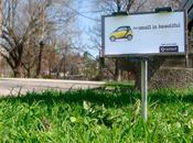 Smart: Small beautiful, mini billboard
