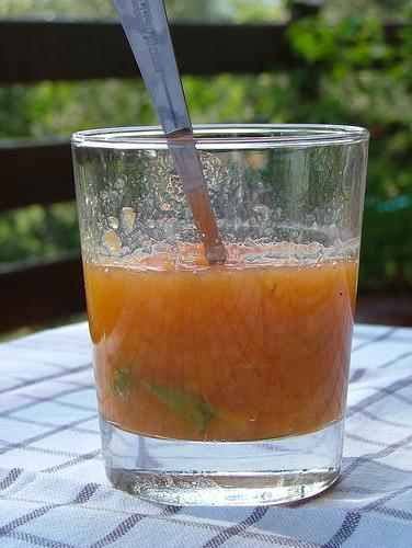 peach jam with basil