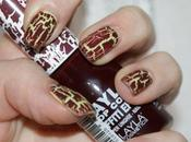 Catrice Ultimate Nail Lacquer Easy Peasy Lemon Squeezy Layla Coat Graffiti Effect Bordeaux Scuro