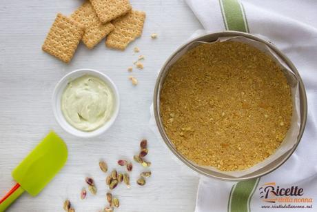 Base biscotti cheecake crema pistacchio D'Amico