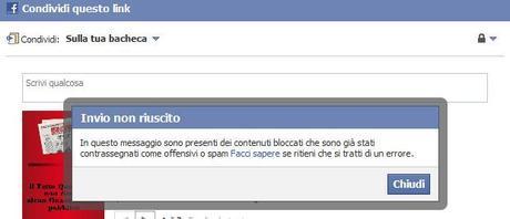 Facebook blocca per spam il Fatto Quotidiano, guardare per credere