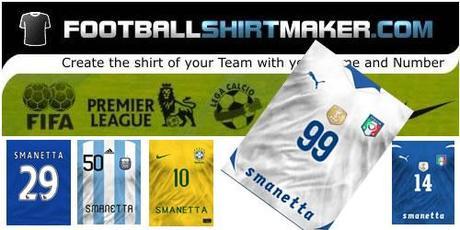 Crea la tua maglia da calcio su footballshirtmaker paperblog for Crea la tua casa online gratuitamente
