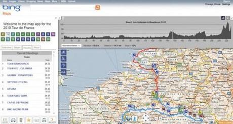 Il nuovo servizio di Bing per seguire il Tour de France