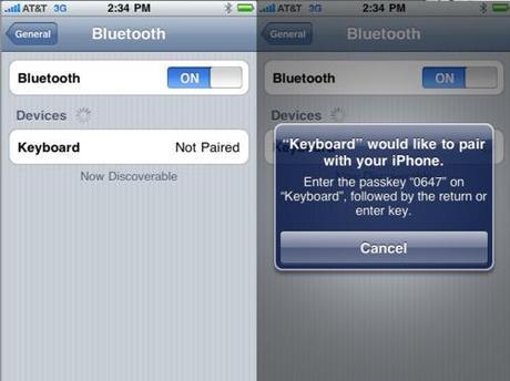 iOS 4.0: il supporto alle tastiere Bluetooth