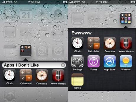 iOS 4.0: le cartelle per le App